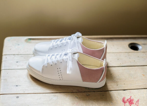 White and pink sneakers M.Moustache
