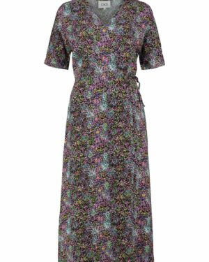 Multicolor wrap dress front