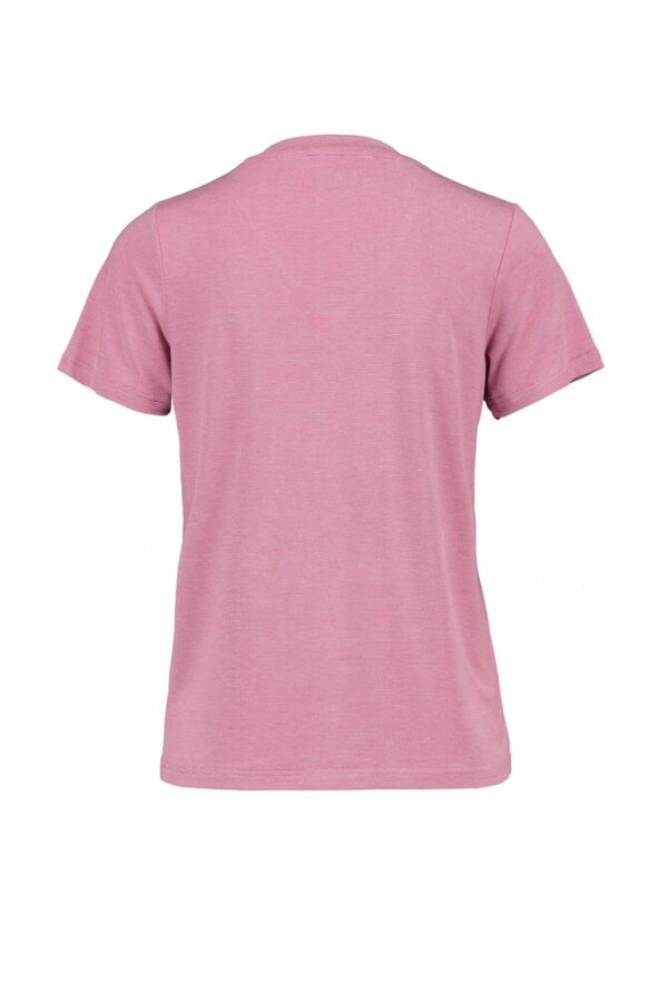 Pink V-neck t-shirt back