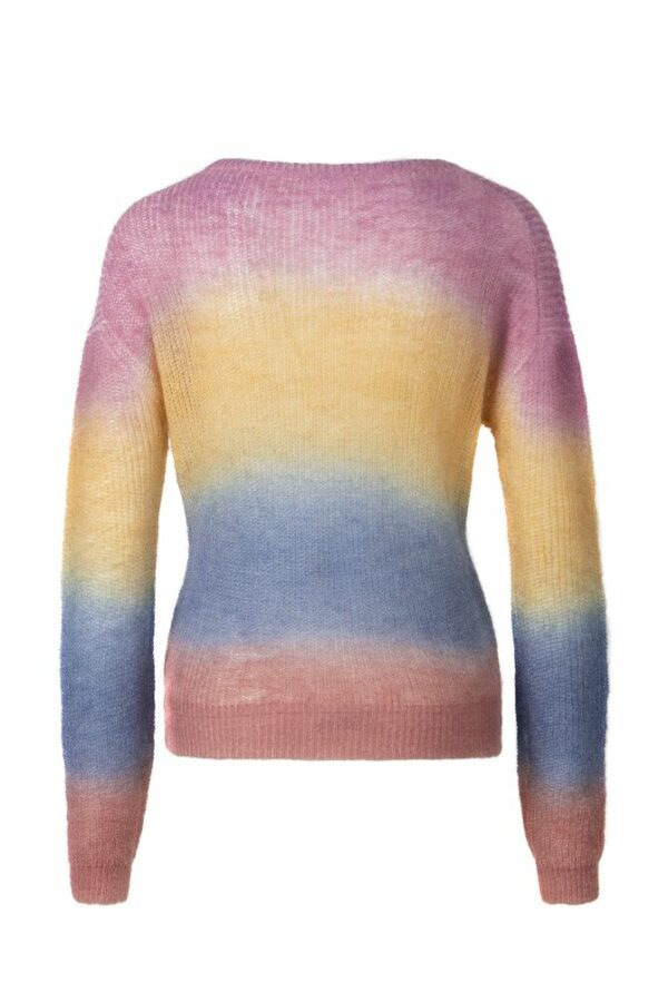 Multicolor knitted sweater back
