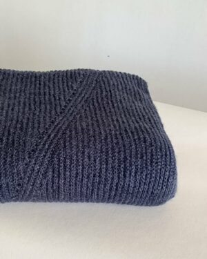 Steel Blue LesElles mohair scarf