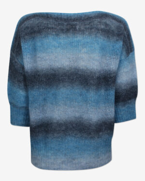 Molly knitted pullover in a dégradé blue