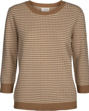 Balia knit pullover in almond color front