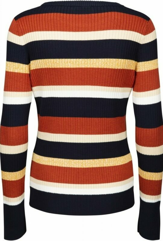Striped long sleeve knit