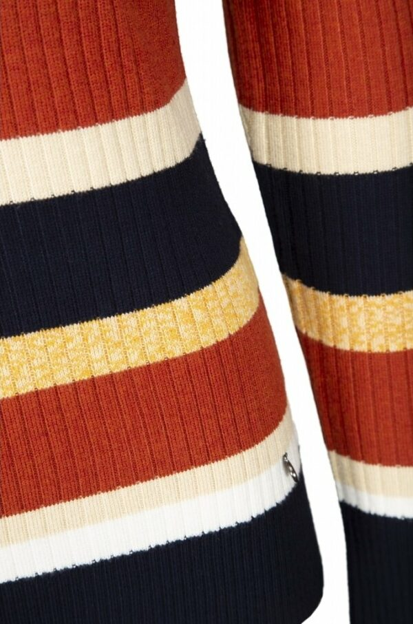 Detail of striped long sleeve knit