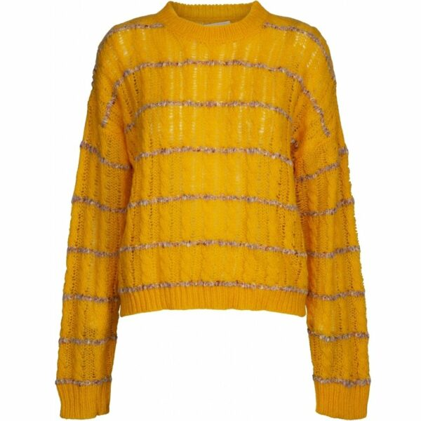 Inas sunflower knit pullover