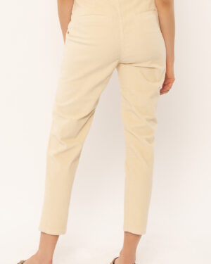 Off white corduroy trousers back